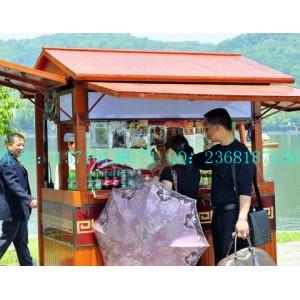 珠海游乐场实木售货车  售卖亭  防腐新款流动售货车  清远景区移动售货车