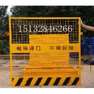 直梯井口防护栏防护网、人货梯通道防护网门、施工井口安全防护门