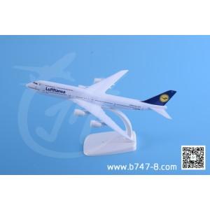 金属飞机模型 波音 B747-8 汉莎航空 1:300