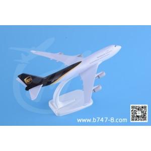 金属飞机模型 波音 B747-400 UPS快递 1:300