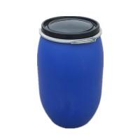 蓝色大口120升抱箍桶125升抱箍法兰桶