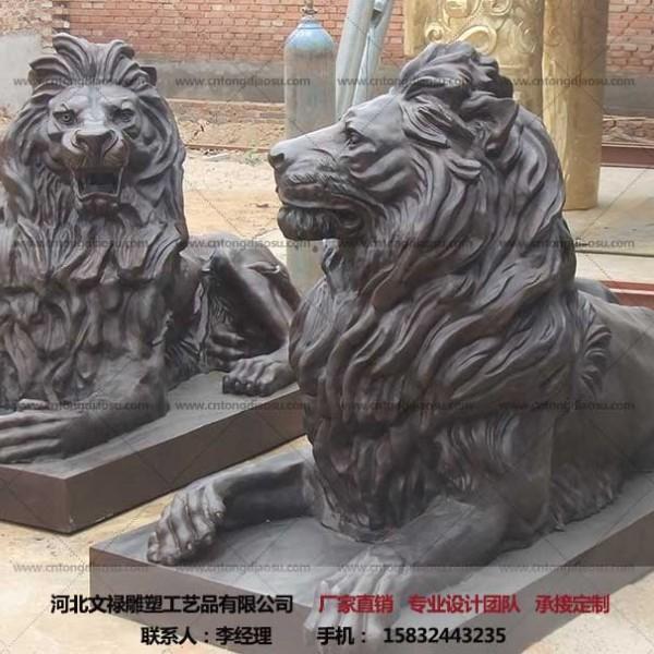 故宫狮雕塑-铜狮子摆件-铜狮子-文禄