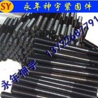 专业制造 高强度双头螺栓 8.8级发黑 欢迎订购