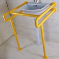 卫生间立柱盆不锈钢扶手老人残疾人防摔洗手台助力架洗脸面盆把手