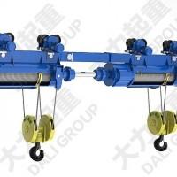 供应2*10吨同轴双钩双吊点钢丝绳电动葫芦|非标葫芦订做