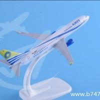 飞机模型波音B737-800哥伦比亚航空金属迷你精品航模摆件
