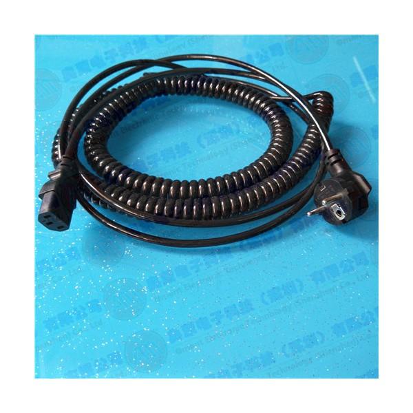 3芯0.75平方螺旋电源线 螺旋电缆线 定做螺旋电缆