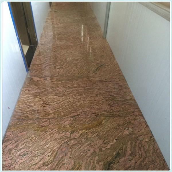 厂家供应加州红龙石材 五彩石花岗岩 定制加工异形窗台板