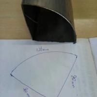 现货不锈钢扇形管,不锈钢扇形管