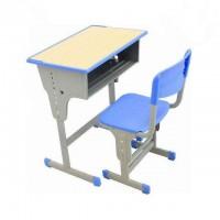 厂家直销学生课桌椅 培训辅导班学习儿童课桌 可升降单人课桌椅