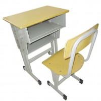 厂家直销单人课桌椅 辅导班培训班学校课桌批发定制学生课桌椅
