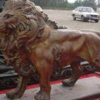 铜狮子摆放-铸铜狮子雕塑-文禄