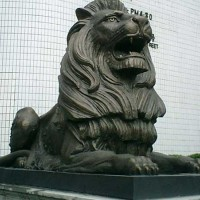 铜狮子_大型铜狮子_志彪雕塑公司供应铜狮子