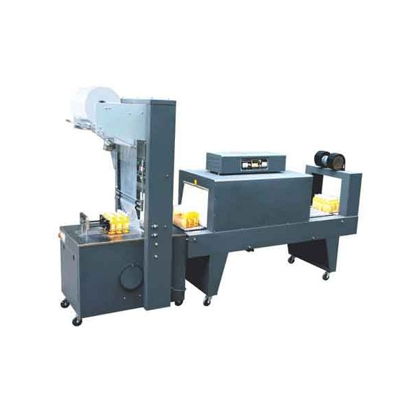 袖口式套膜包裝機+PE熱收縮包裝機(半自動)廠家,價格及圖片
