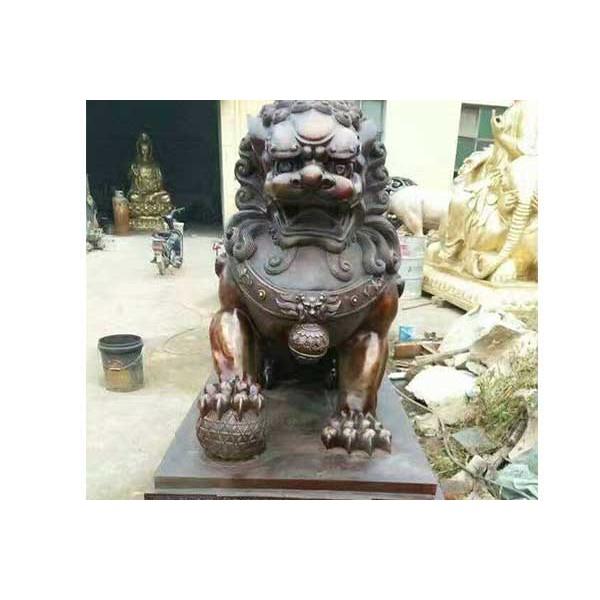 铜狮子_大型动物雕塑_河北文禄铜雕