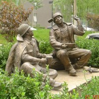 园林雕塑_铸铜雕塑_河北文禄铜雕