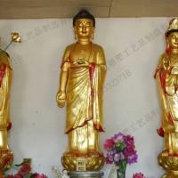 西方三圣像_铜雕西方三圣像_志彪铜佛像制作