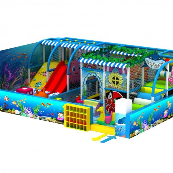 儿童?#20113;?#22561;乐园 千层漏 塑料滑梯 电动玩具