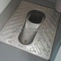 新凯农村旱厕大小便器分集式不锈钢蹲便器 带防臭盖板