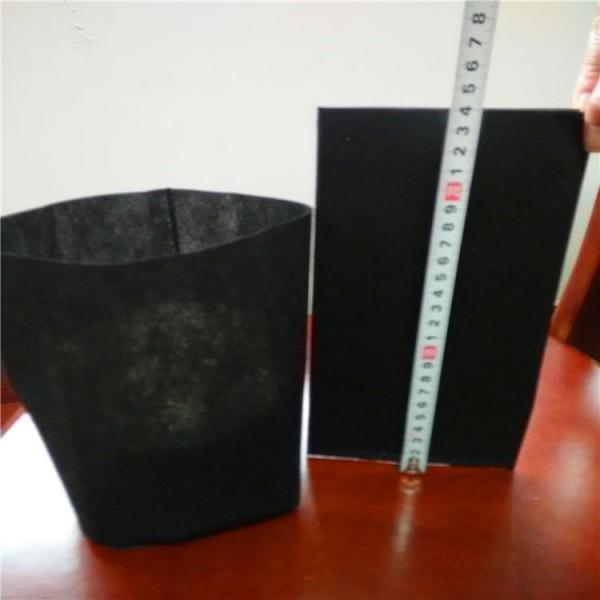 黑色无纺布插边形育苗营养袋透气透水可降解成活率高