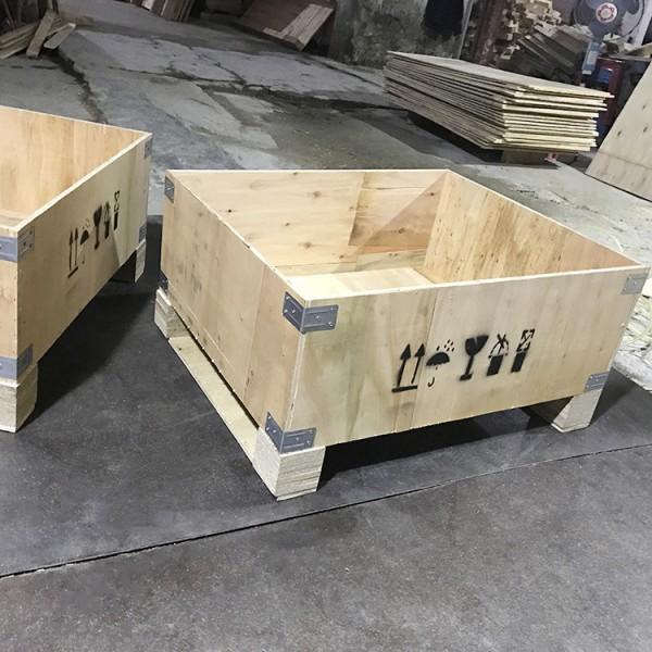 定制各型號的環保木箱 出口免檢疫木箱 可拆卸循環利用的鋼帶箱