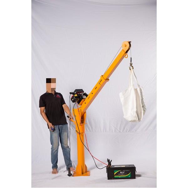 小型隨車吊價格-24V12V電動小型車載吊機批發-東弘起重