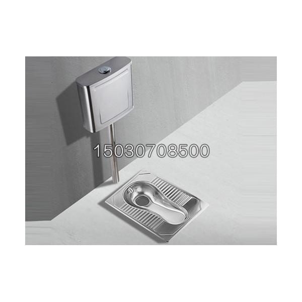现货供应不锈钢蹲便器带水箱节水防臭