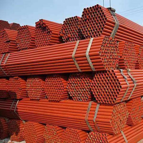 长沙架子管 Q235黄红油漆直缝焊管生产厂家