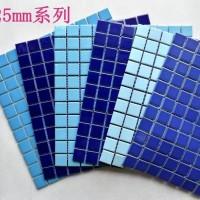 游泳池深蓝色陶瓷马赛克 双十一厂家大放送