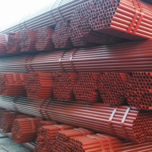 长沙架子管 Q235黄红油漆架管生产厂家