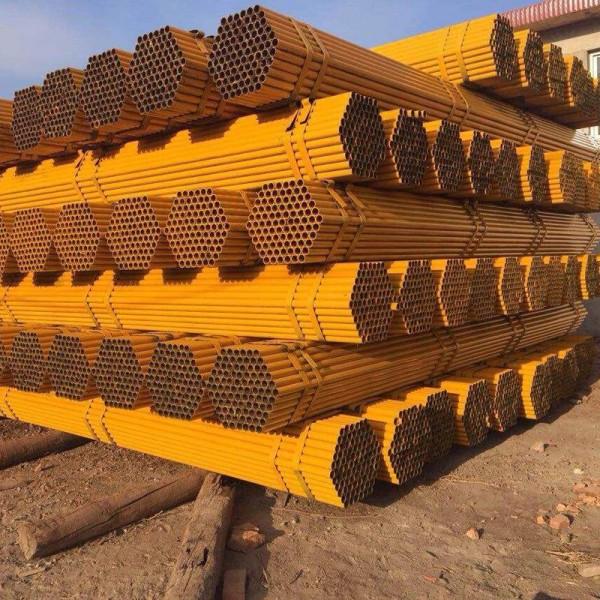 怀化架子管 Q235黄红油漆架管生产厂家