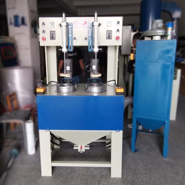 浙江噴砂機廠家 銅件水壺內膽噴砂處理雙工位噴砂機