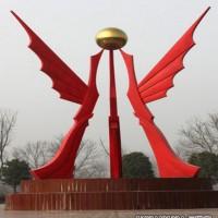 公园不锈钢几何抽象雕塑 抽象飞雁摆件景观上海