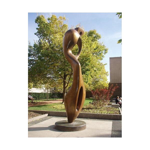 绍兴不锈钢电镀抽象雕塑 公园绿化仿铜摆件