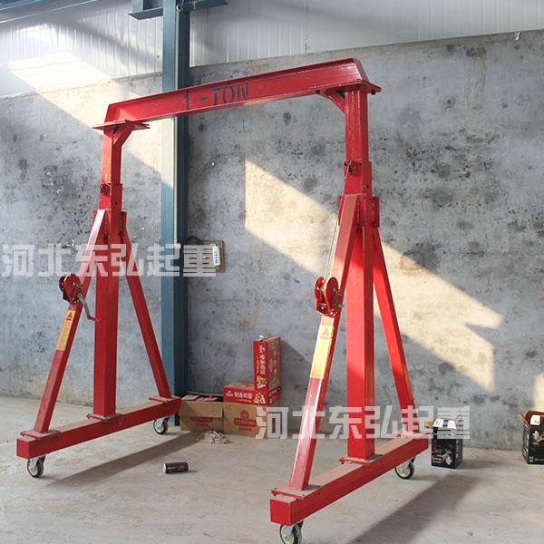 立柱高度调节式小型龙门架-拆卸式移动龙门架批发
