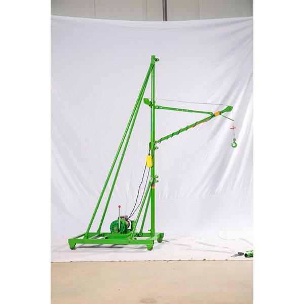 河北家用小型移动式吊机价格-底座四轮小型家用吊机