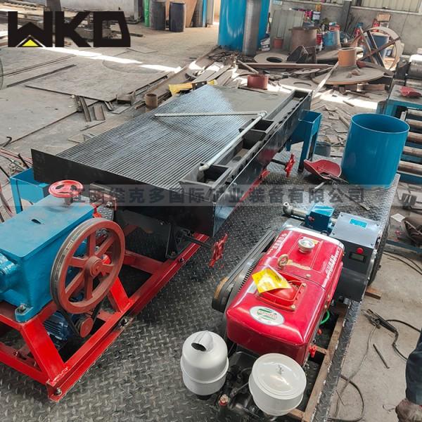 江西石城生產選礦搖床 玻璃鋼沙金洗金搖床LY2100搖床價格