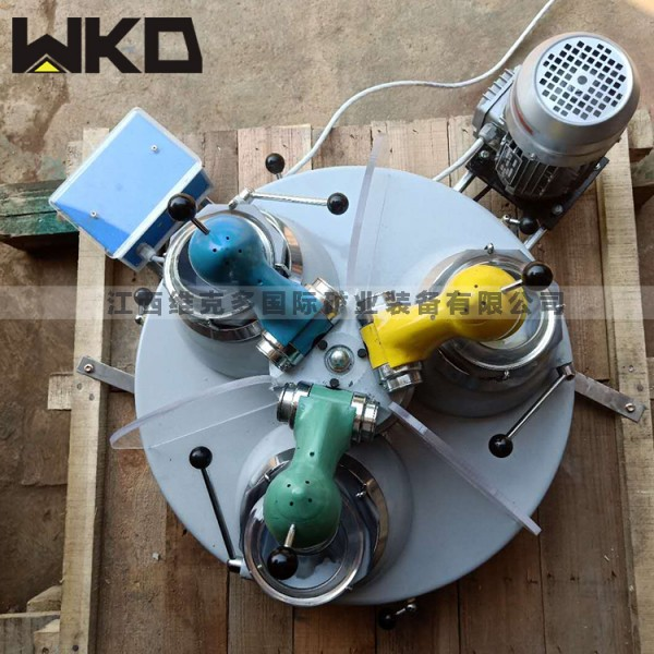 生產三頭研磨機實驗磨細分析研磨設備XPM120*3三頭研磨機