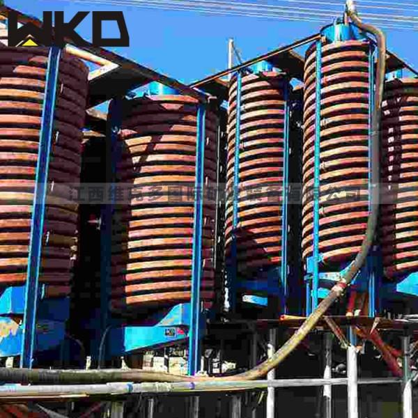 山東供應選礦螺旋溜槽5LL900赤鐵礦螺旋溜槽玻璃鋼旋轉溜槽