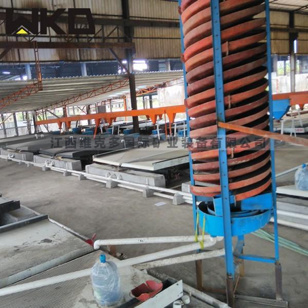 厂家直销全套洗煤螺旋溜槽 实验用螺旋溜槽 玻璃钢溜槽价格