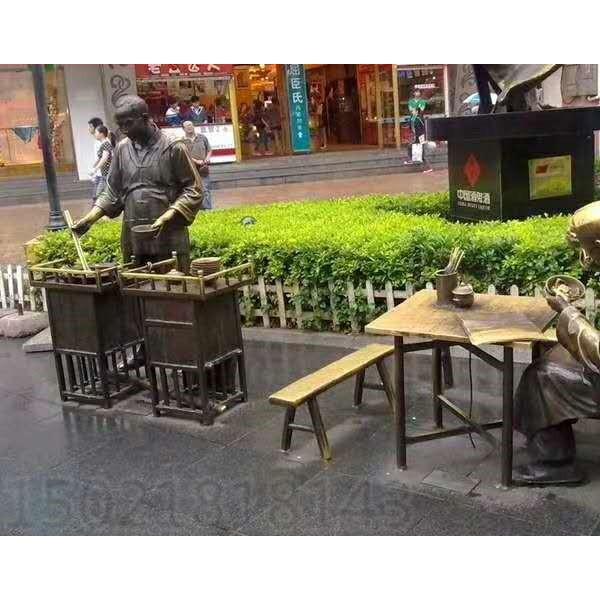 济源创意仿铜街头雕塑小品 摆地摊景观定制加工