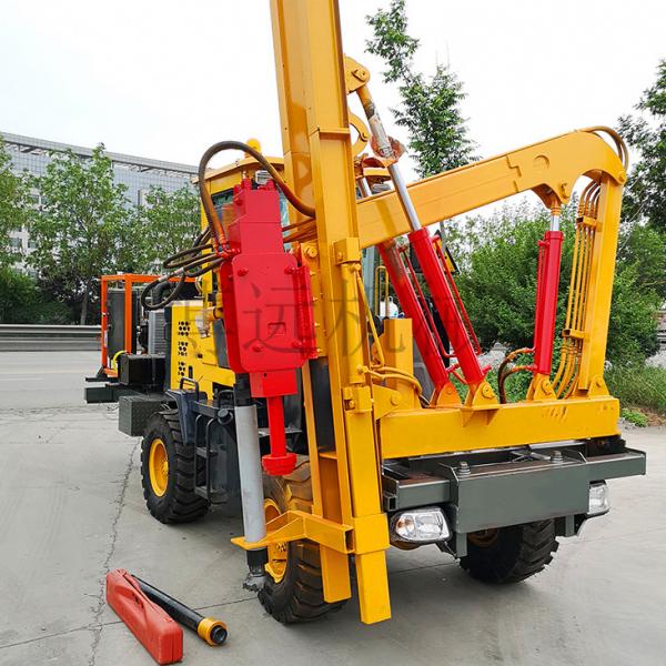 輪式打樁拔樁一體機 護欄打樁機 道路基建護欄打樁機