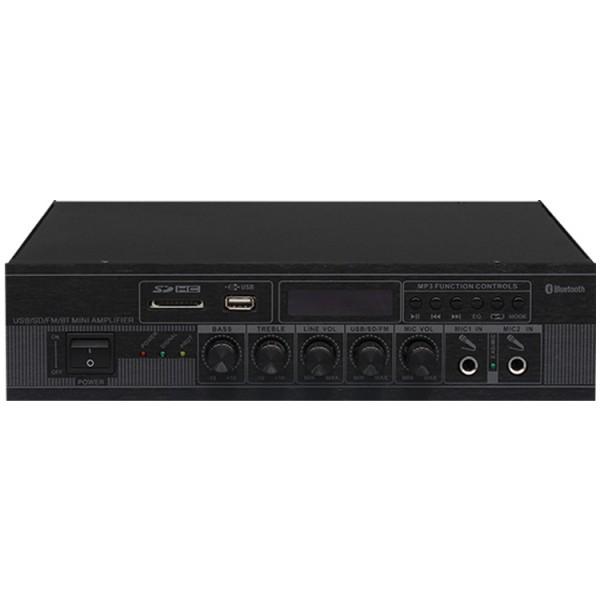 瑞皇USB/SD蓝牙遥控小功放便携桌面式商场背景音乐定压阻