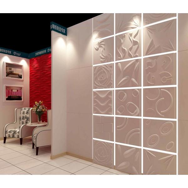 牡丹花款式背景墙立体时尚3D墙板天花吊顶可定制跨境直销牡丹