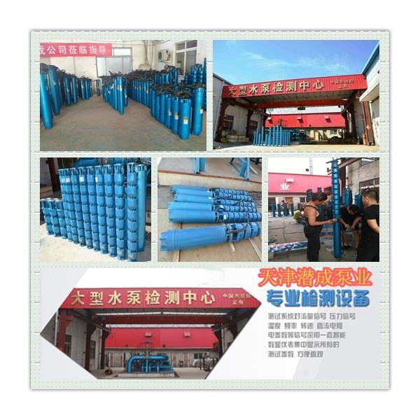 天津高扬程330米热水深井泵,125KW地热井用热水泵潜成