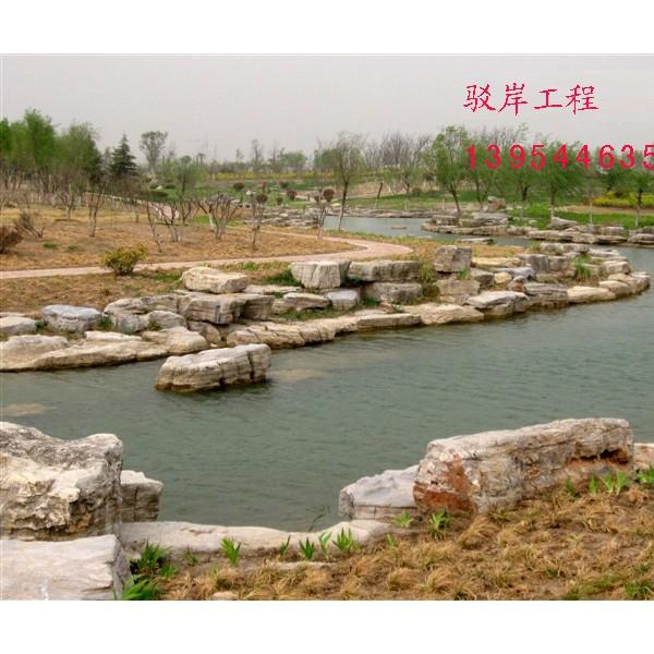 龜紋石駁岸工程人工湖駁岸工程施工