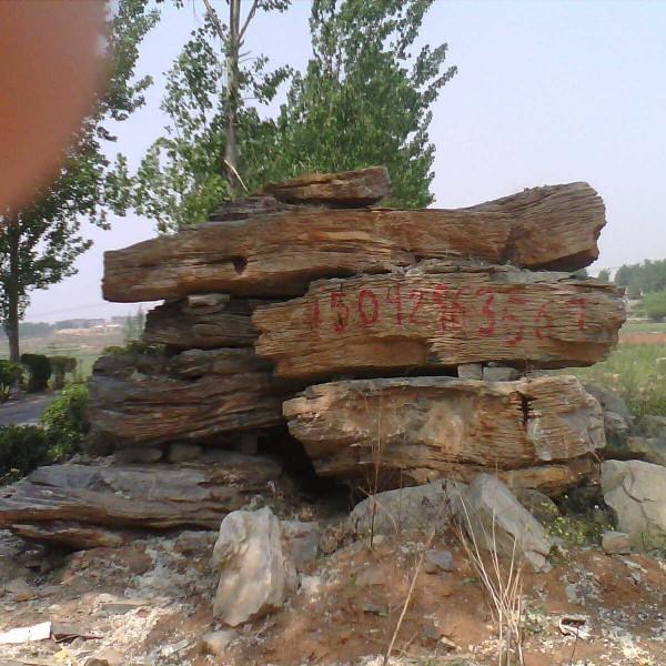 山东临沂千层石 黄色千层石 大块千层石 施工报价