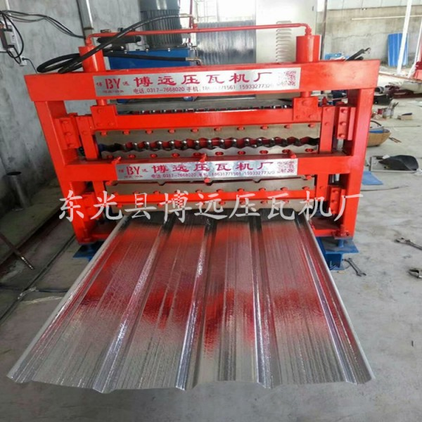 單板覆膜壓瓦機 鐵皮瓦覆膜壓瓦機 彩鋼板覆膜機廠家